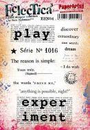 Sara Naumann PaperArtsy A5 Cling Rubber Stamp Set 04 - ESN04