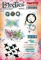 Tracy Scott ETS41 Paperartsy a5 cling rubber stamp set