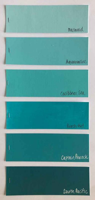 Family 1 - Bright Turquoise Blues
