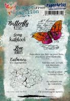 France Papillon FP009 Paperartsy a5 cling rubber stamp set