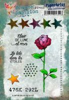 France Papillon FP015 Paperartsy A5 Cling Rubber Stamp Set