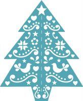 Folk Art Christmas Tree Die (PA028) Funky Fossil