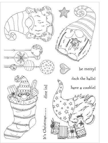 Its Christmas (CS085) Charlotte Blackwood Funky Fossil a5 Stamp