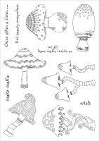 Mushroom Medley (CS086) Charlotte Blackwood Funky Fossil a5 Stamp