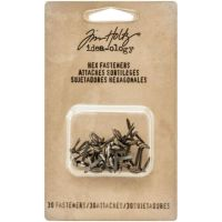 "Idea-Ology Metal Hexagon Paper Fasteners .25 To .5"" 30/Pkg (TH93268)"