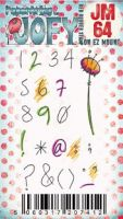 JOFY Mini 64 (JM64) PaperArtsy credit card sized cling rubber stamp