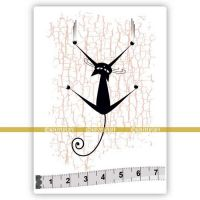 Cat 02 (SOLO002) Single Unmounted Rubber Stamp by Katzelcraft