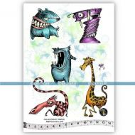 The Teeth Jab Collection 05 (KTZ227) A5 Unmounted Rubber Stamp Set by Katzelkraft