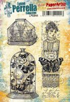 Lynne Perrella Paperartsy A5 Cling Rubber Stamp Set (LPC044)
