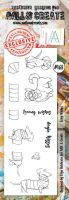 No. 168 Long Wishes Aall and Create Border Stamp Set by Olga Heldwein