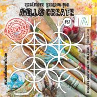 Broken Circles - No. 67 Aall and Create Stencil - 6 in by 6 in (15cm by 15cm)
