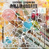 Ice Cracks - No. 68 Aall and Create Stencil - 6 in by 6 in (15cm by 15cm)