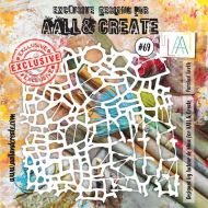 Parched Earth - No. 69 Aall and Create Stencil - 6 in by 6 in (15cm by 15cm)