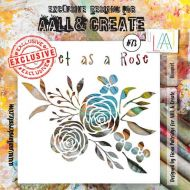 Bouquet - No. 73 Aall and Create Stencil - 6 in by 6 in (15cm by 15cm)