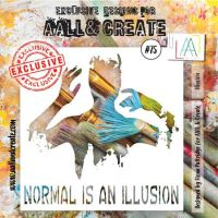 Illusion - No. 75 Aall and Create Stencil - 6 in by 6 in (15cm by 15cm)