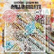 Cloister Grille - No. 78 Aall and Create Stencil - 6 in by 6 in (15cm by 15cm)