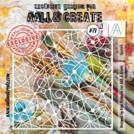 Sputnik - No. 79 Aall and Create Stencil - 6 in by 6 in (15cm by 15cm)