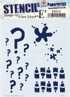 PS174 Clare Lloyd regular Paperartsy stencil