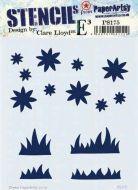 PS175 Clare Lloyd regular Paperartsy stencil