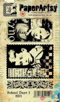 School Days Plate 1 (SD1EZ) Ink and the Dog PaperArtsy Collections Vintage Stamps
