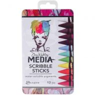Dina Wakley Media Scribble Sticks Set 1 (12 pack)