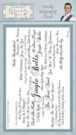Carols Sentiment Cloud Phill Martin Cling Rubber Stamps (SYR032)