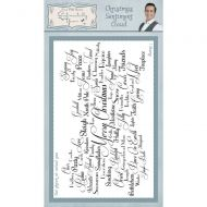 Christmas Sentiment Cloud Phill Martin Cling Rubber Stamps (SYR033)
