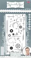 Industrial Blueprint Engineered Elements - Phill Martin Cling Rubber Stamps (SYCL007)