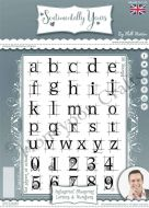 Industrial Blueprint Letters and Numbers - Phill Martin Cling Rubber Stamps (SYCL0010)