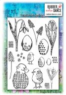 Rubber Dance Stamp Set- Textured Spring