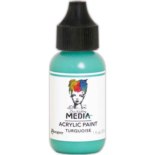 Turquoise Dina Wakley Media Acrylic Paint 1oz (MDQ54108)