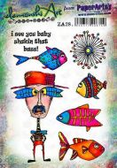 Zinski Art set 28 PaperArtsy A5 stamp set ZA28