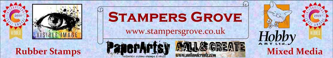 Alison Bomber Stamp Set (EAB12) for PaperArtsy - Stampers Grove are fans of quality art rubber stamps and stencils and all things mixed media.
